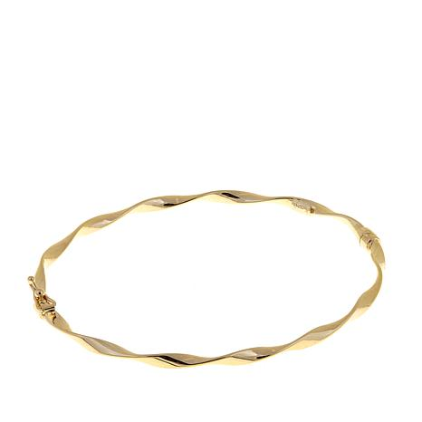 sgs twisted stackable jewelry bling tube gold filled bangle cable bracelet