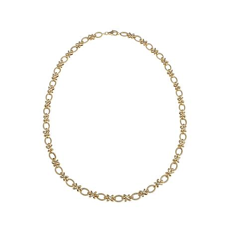 "Passport to Gold 14K Yellow Gold ""X & O"" 18"" Necklace"
