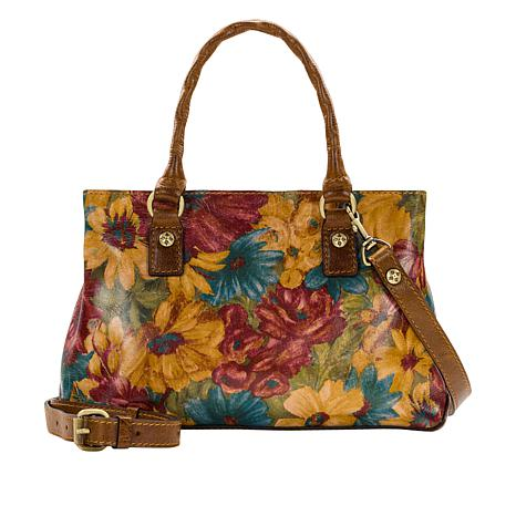 Patricia Nash Angela Leather Fresco Bouquet Satchel