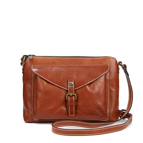 abc92ced63e8 Patricia Nash Avellino Leather Top-Zip Crossbody Bag - 8360975