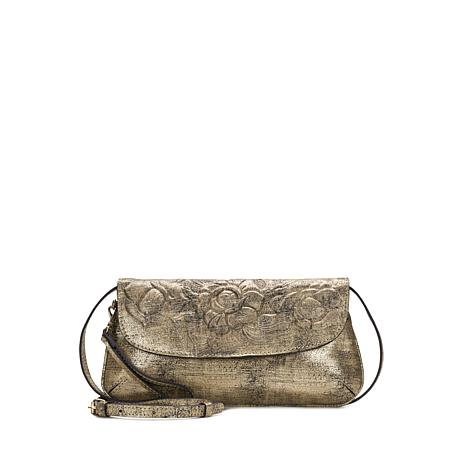 Patricia Nash Baku Soft Metallic Leather Clutch