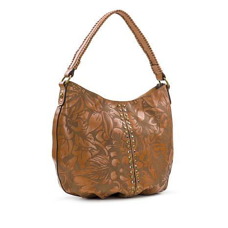 14088540b0 Patricia Nash Bello Laser Floral Leather Hobo - 8760977