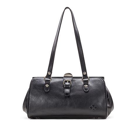 Patricia Nash Corsica Leather Double Buckle Frame Bag