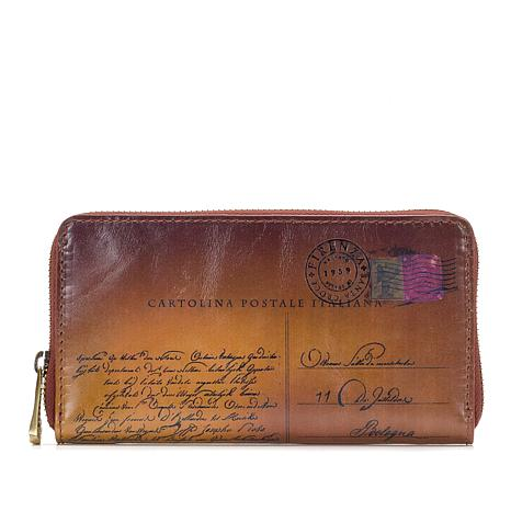 Patricia Nash Discovery Imperia Leather Postcard Wallet with RFID