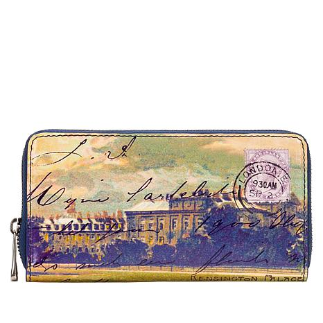Patricia Nash Discovery Imperia Leather Postcard Wallet