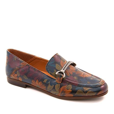 Patricia Nash Fia Slip-On Leather Loafer Mule