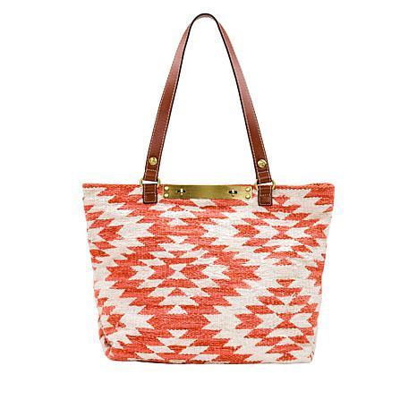 Patricia Nash Hand-Loomed Cotton Weave Chennai Tote