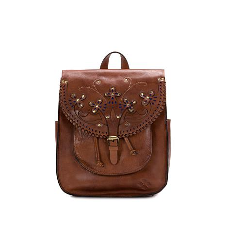 Patricia Nash Jovanna Leather Western Cutout Backpack