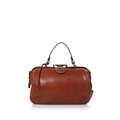Patricia Nash Leather Gracchi Frame Satchel
