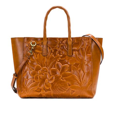 Patricia Nash Milliana Floral Deboss Leather Tote