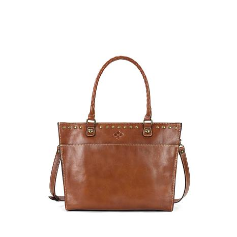 Patricia Nash Navelli Leather Tote - Solid