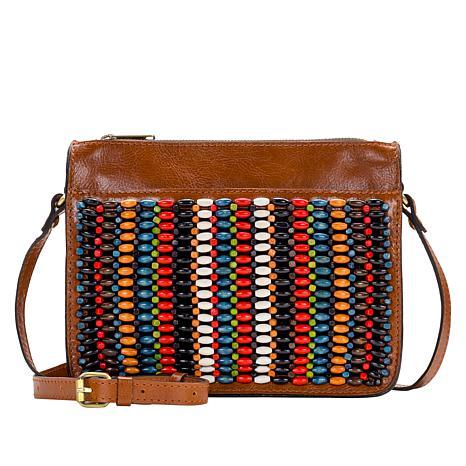 Patricia Nash Nazaire Beaded Leather Crossbody Bag