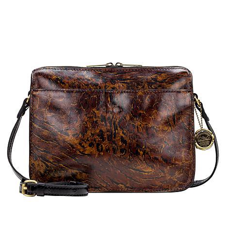 Patricia Nash Nazaire Leather Top-Zip Crossbody Bag