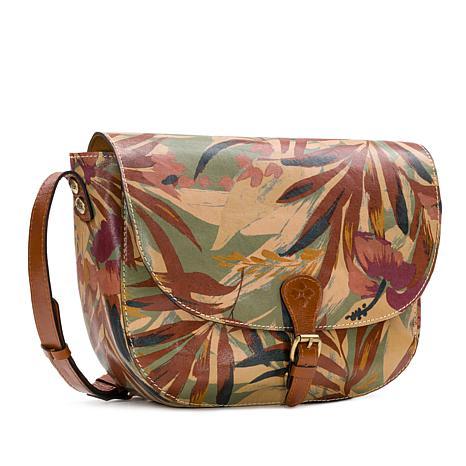 Patricia Nash Rosolini Leather Saddle Bag Satchel ~ Turquoised Tooled
