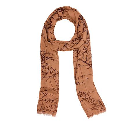 Patricia Nash Signature Map-Print Scarf