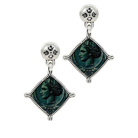 Patricia Nash World Stamp Floret Drop Earrings