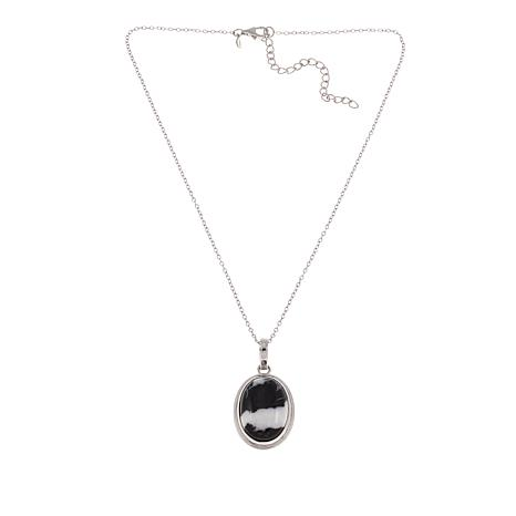 Paul Deasy Gem Black-and-White Buffalo Dolomite Pendant with Chain