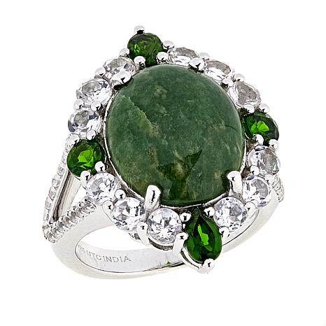Paul Deasy Gem Wyoming Jade and Chrome Diopside Ring