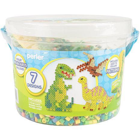 Perler Fused Bead Bucket Kit Dinosaur, 2-pack