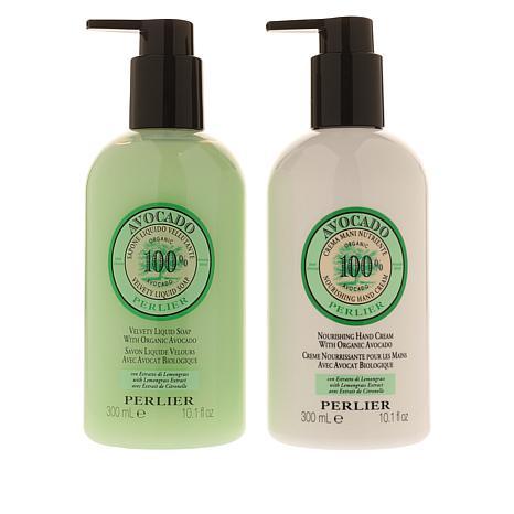 Perlier Avocado & Lemongrass Liquid Soap and Hand Cream Set
