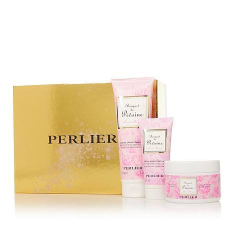 Perlier Pink Peony 3-piece Bath and Body Set with Box