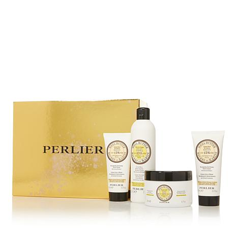 Perlier Shea Butter Acacia 4-piece Bath and Body Set with Box