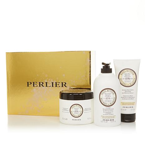 Perlier Shea Butter and White Lily 3-piece Bath and Body Set