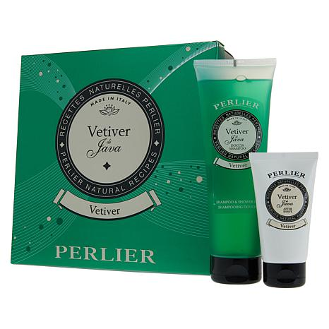 Perlier Vetiver 2-piece Shave and Shower Set