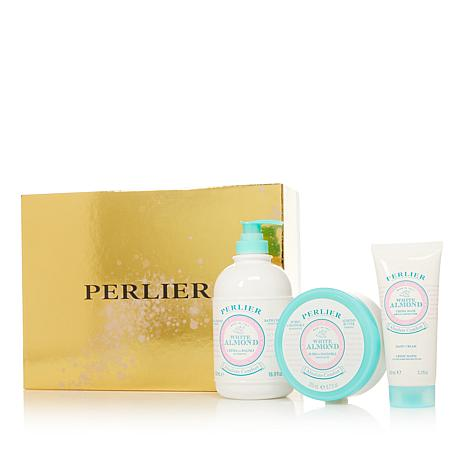 Perlier White Almond 3-piece Bath and Body Set with Box