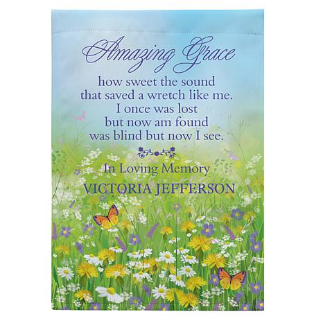 Personal Creations Personalized Amazing Grace Memorial Garden Flag