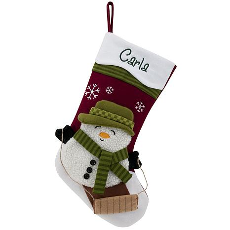 "Personalized 20"" Snowcap Character Stocking - Snowman"
