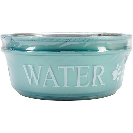 Pet Food and Water Set Large 2 qt - Teal
