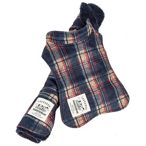 Pet Life 2-in-1 Tartan Dog Jacket with Reversible Dog Mat - Small