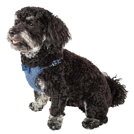 Pet Life Mesh Reversible and Adjustable Dog Harness with Bow Tie