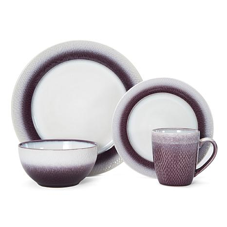 Pfaltzgraff 16-piece Eclipse Plum Dinnerware Set
