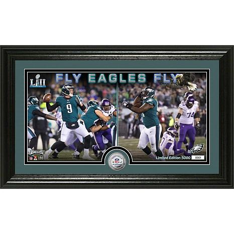 Philadelphia Eagles NFC Champs Panoramic Silver-Plated Coin Photo Mint