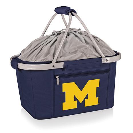 Picnic Time Portable Metro Basket - Un. of Michigan