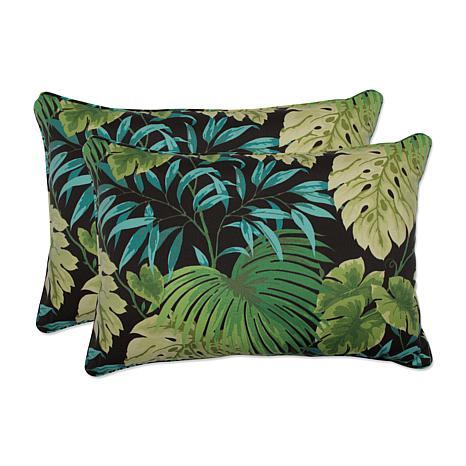 Pillow Perfect Set of 2 Outdoor TropiqueLyndhurst Oversized Rectangular Throw - 7529254 HSN