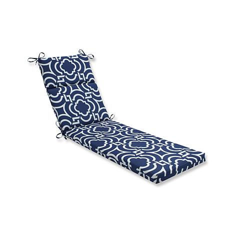 Pillow Perfect Chaise Lounge Cushion Carmody Navy 7529456 HSN