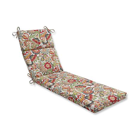Pillow perfect outdoor zoe chaise lounge cushion for Chaise cushion clearance