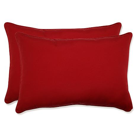 Pillow Perfect Pompeii Rectanglular Throw Pillows - Red