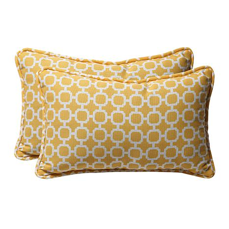 Pillow Perfect Set Of 2 Outdoor Hockley Rectangular Throw