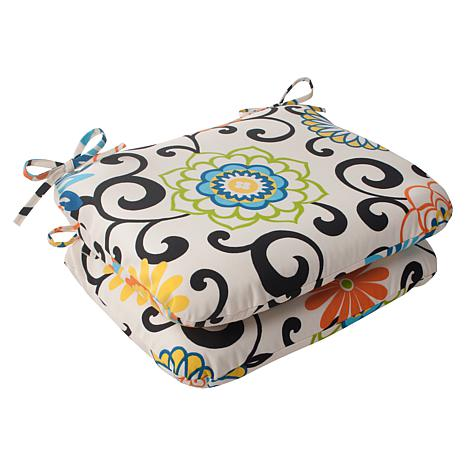 Pillow Perfect Set of 2 Rounded Cushions - Lagoon