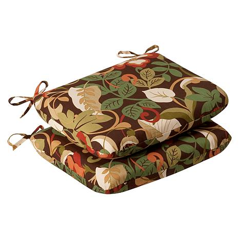 Pillow Perfect Set of 2 Seat Cushions - Brown