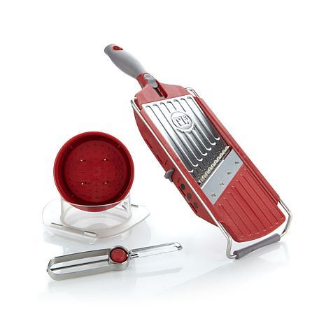 PL8 Handheld Mandoline Slicer and Peeler Set