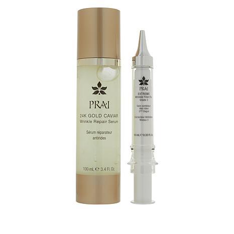 PRAI 24K Gold Caviar Wrinkle Serum & Extreme Wrinkle Fix