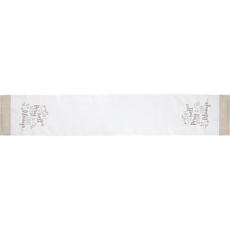 Precious Moments Eat Well Pray Often Love Always Table Runner
