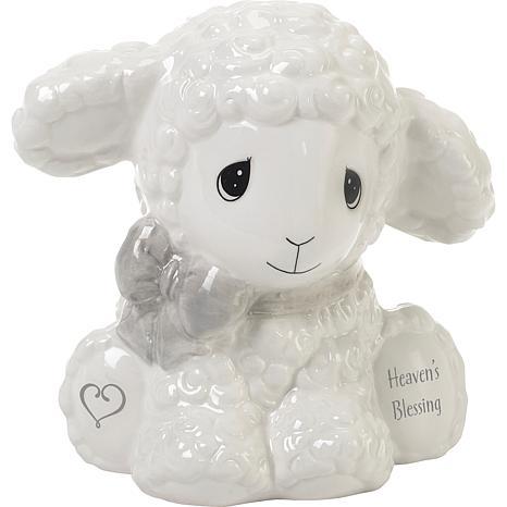Precious Moments Heaven's Blessings Ceramic Lamb Bank