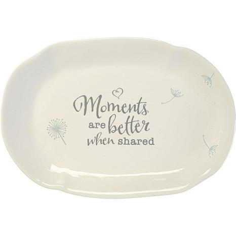 """Precious Moments """"Moments Are Better When Shared"""" Ceramic Platter"""