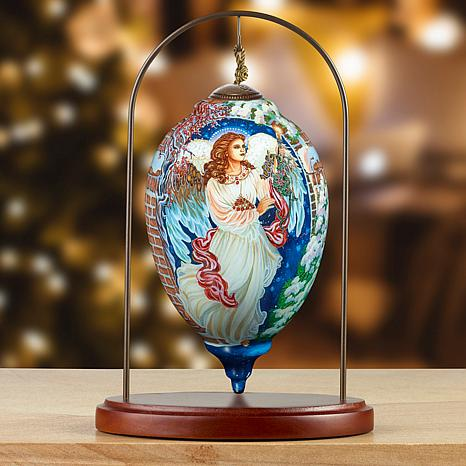 Precious Moments Ne'Qwa Art Angel Ornament With Stand